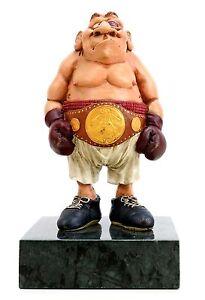 Ivan der Boxer - handbemalte Bronzefigur - Moderne Kunst - signiert Milo - Dresden, Deutschland - Ivan der Boxer - handbemalte Bronzefigur - Moderne Kunst - signiert Milo - Dresden, Deutschland
