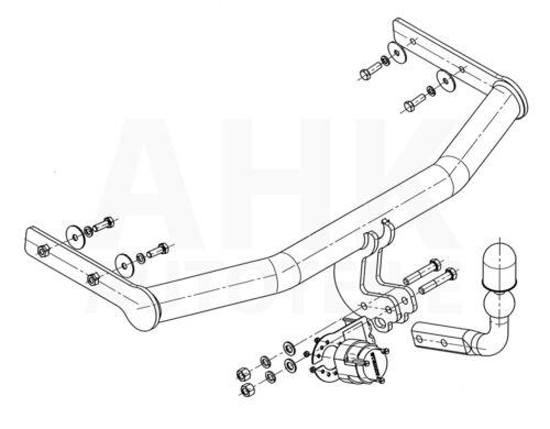 Für Seat Arosa 3-Tür 97-05 Kpl Anhängerkupplung starr+E-Satz 13p