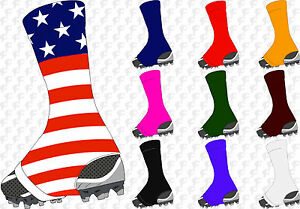 Tck Razur Football Soccer Spats Sock Wrap Lace Cleat Cover