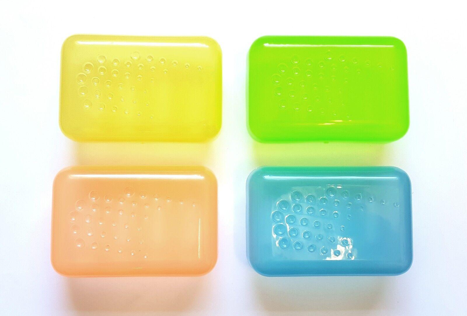 Bagno sapone sapone sapone da viaggio Saver piatto Stoccaggio Scatola di Plastica Contenitore Scatola di 144 @ 32p 58a209