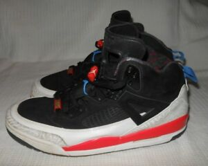 sports shoes 16b4a 76464 Image is loading Nike-air-Jordan-Spizike-Black-Blue-Infrared-White-