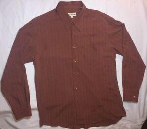 Mens shirt tshirt Brown Red long sleeve  large xl NEW