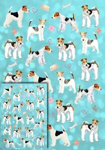 Wire-Fox-Terrier-Dog-Gift-Wrapping-Paper-by-Starprint-matching-Gift-card