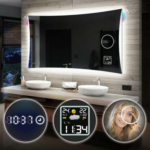s3weather station l77 Beautiful mirror bathroom switch led