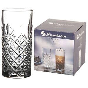 de27663f193 Pasabahce Long Drink Glasses 29.5cl 295ml Set Of 4 Crystal Effect ...