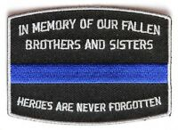 (f23) In Memory Of Our Fallen Brothers & Sisters 3.5 X 2 Iron On Patch (4455)