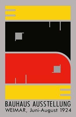 1924 GERMAN WEIMAR BAUHAUS ART EXHIBITION AUSSTELLUNG A3 POSTER RE PRINT