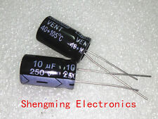 100pcs 10uF 250V 105°C Electrolytic Capacitor 10x13mm