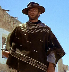 cb1668cef Details about Clint Eastwood Brown Poncho - Cowboy Replica Movie Prop -  Great for Halloween