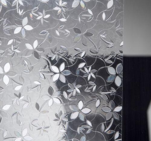 Dekorfolie statische Fensterfolie Flora Blumen 45 cm hoch Glasdekor