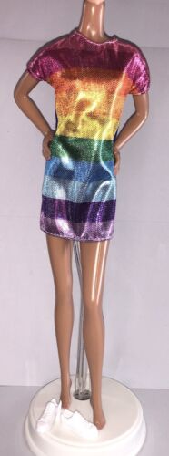 Barbie Fashionistas 2018 #90 Rainbow Bright Doll Outfit Clothes Dress Shoes NEW