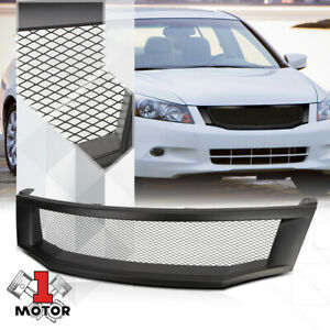 Matte-Black-ABS-Wire-Mesh-Front-Bumper-Grille-Grill-for-08-10-Honda-Accord-Sedan
