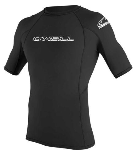 O/'Neill Basic Skins S//S Crew Rash Vest 2020 Black