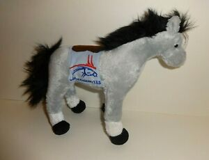 """DERBY 133 THE KENTUCKY DERBY GRAY THOROUGBRED HORSE 8"""" TY BEANIE BABY PLUSH MINT"""