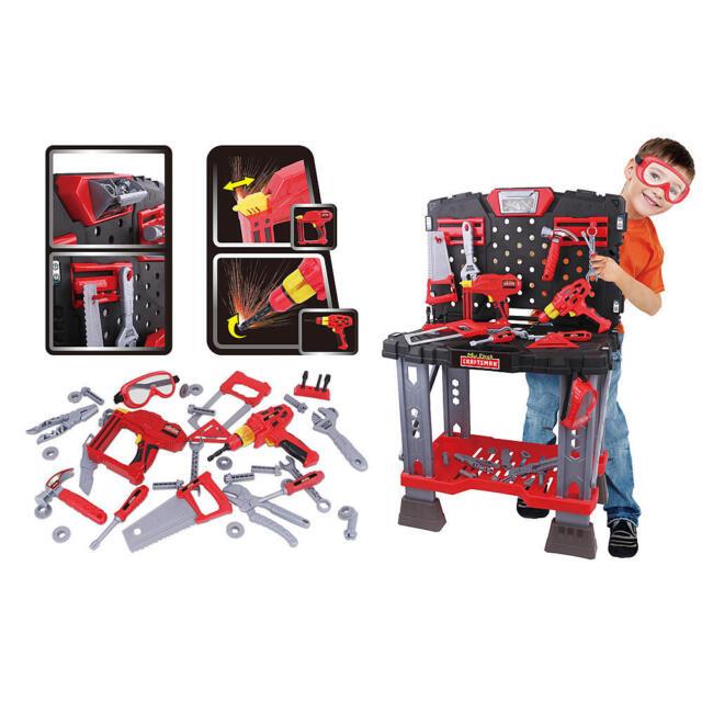 Phenomenal Boys Kids First Craftsman Tool Bench Workbench Toy Playset Garage Construction Machost Co Dining Chair Design Ideas Machostcouk