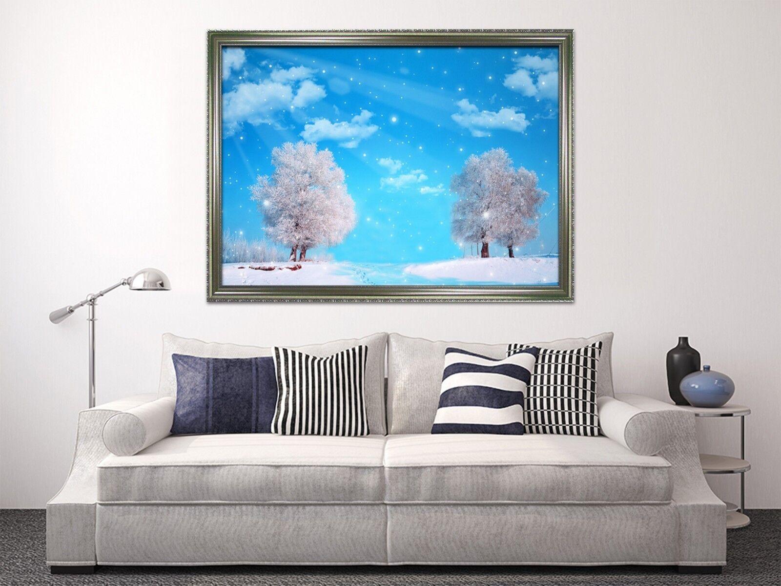 3D White Tree 67 Framed Poster Home Decor Print Painting Art AJ WALLPAPER