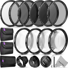 58mm Macro Close Up Set + UV CPL ND4 + ND Filter Kit for Canon 18-55mm Lens