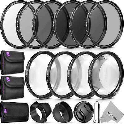 58 mm Ultraviolet Filter /& 58 mm Lens Hood 58mm Tulip Lens Hood for Canon EF 100mm f//2.8 Macro USM 58MM UV Filter