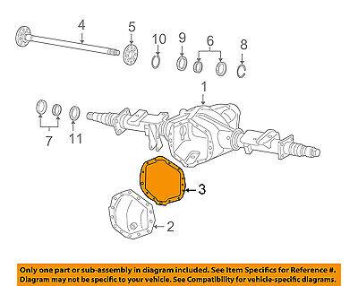 GM OEM Axle Housing-Rear-Cover Gasket 12471447 12471447 | eBay