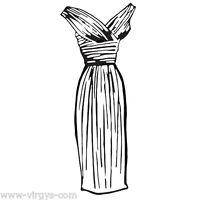 Sticker Mode Robe De Soirée, Dressing, 18 Coloris, 15x9cm À 50x28cm (mod003)