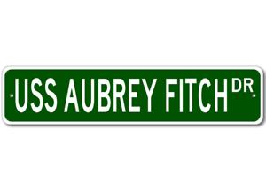 USS-AUBREY-FITCH-FFG-34-Ship-Navy-Sailor-Metal-Street-Sign-Aluminum
