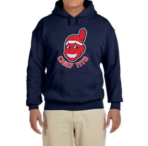03a0b20665 Image is loading Chief-Tito-Terry-Francona-Cleveland-Indians-Hooded- sweatshirt