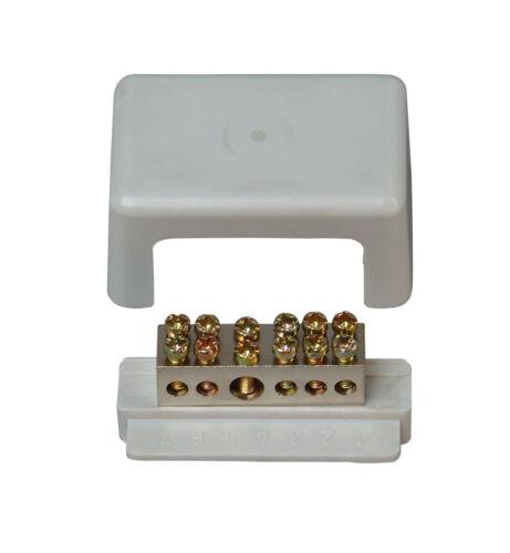 Kopp Baderdungsschiene Erdungschiene 1 x 6-25 mm²    5 x 1,5-6 mm²