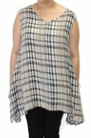 Flax Designs Artistic Tunic Plaid Oversize Size Large Bust 48