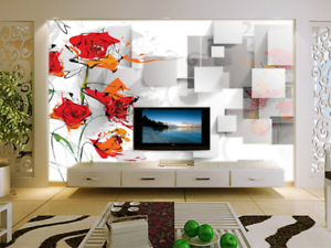 3d Abstract Flowers 88 Wall Paper Murals Wall Print Wall