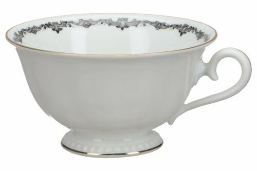 Teetasse D 10,1 cm H 5,5 cm Rosenthal Perlrand Kranzkante Schwarz