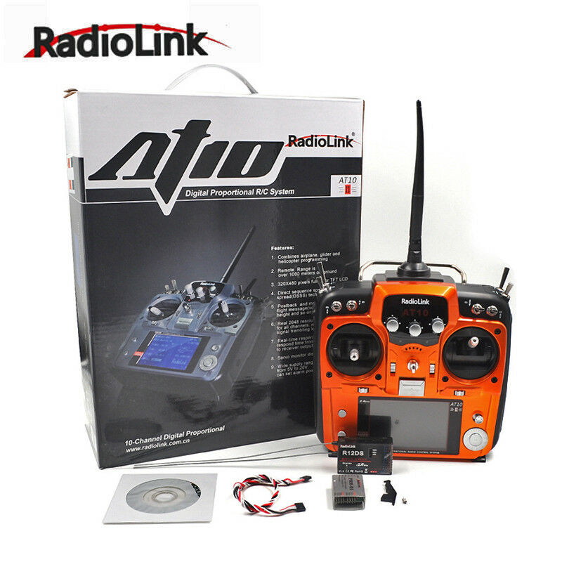 RadioLink 2.4GHz AT10II 12 Channel Transmitters DSSS&FHSS with R12DS Receiver