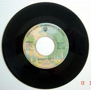 ONE-1976-039-S-45-R-P-M-RECORD-AMERICA-TODAY-039-S-THE-DAY-HIDEAWAY-PART-II