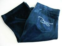 Style&co. Womens Embellished Boot Leg Velour Sweatpants Evergreen Sz L -