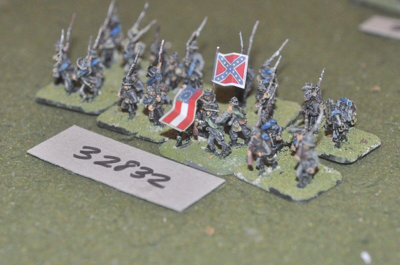 15mm ACW   confederate - regiment 32 figures - inf (32832)