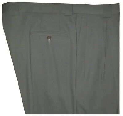 huge selection of aaf59 0cd09 EXCELLENT GIORGIO ARMANI COLLEZIONI OLIVE SAGE MENS CREPE DRESS PLEATED  PANTS 40 | eBay