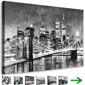 leinwand bilder new york city wandbilder schwarz wei gerahmte kunstdrucke xxl ebay. Black Bedroom Furniture Sets. Home Design Ideas