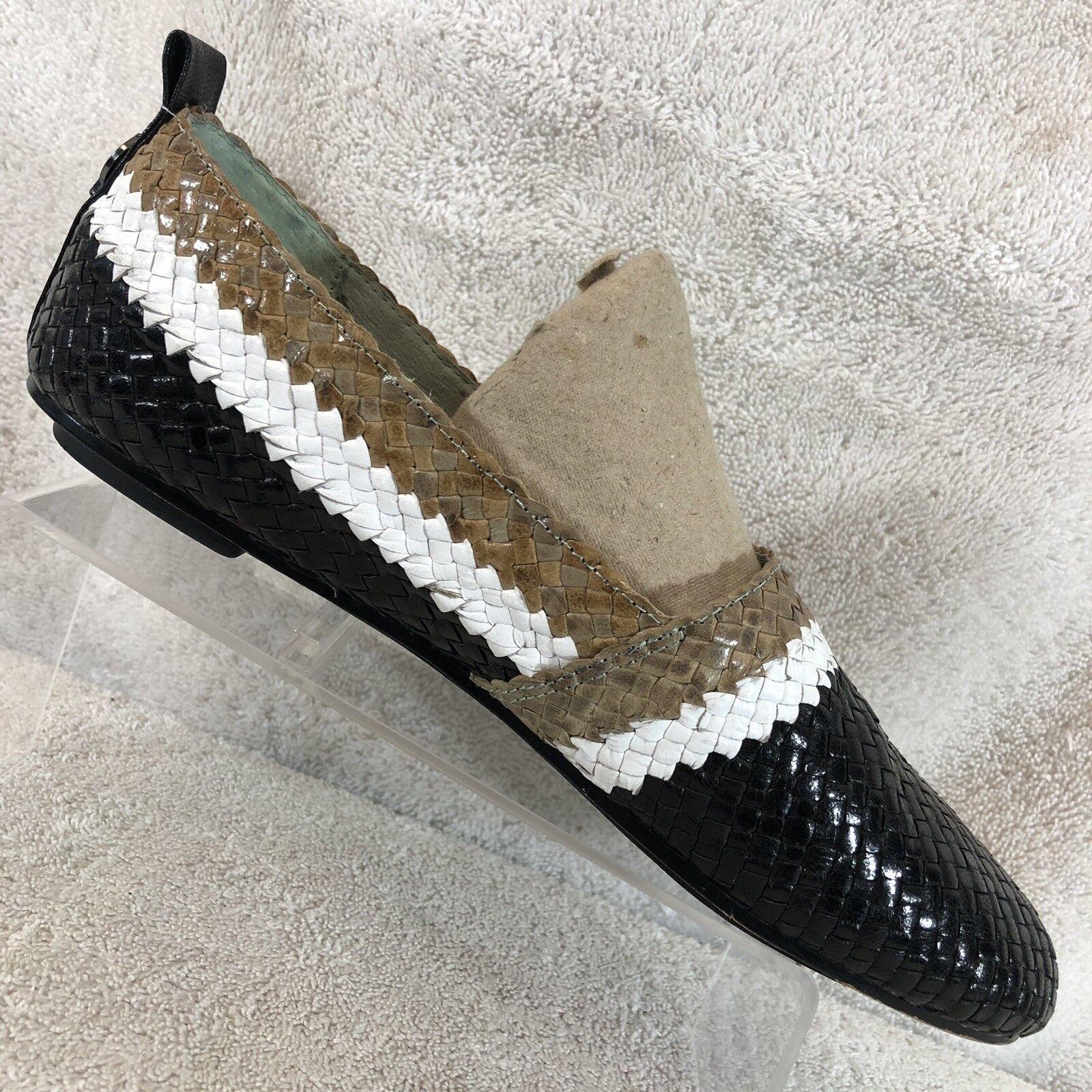 House of Harlow Kye Negro de cuero tejido antideslizante antideslizante antideslizante en pisos de fumar para mujer 36.5 5.5  el precio más bajo