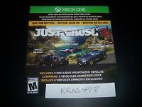 Just Cause 3 Three Day One DLC Code XBox One XB1 3 Exclusive Weaponized Vehicles