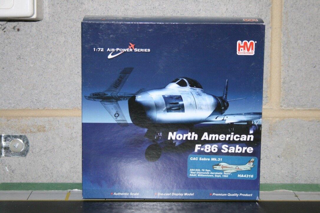 Hobby Master RAAF 1 72 F-86 Sabre A94-942 (HA4316) Fundición Modelo de Avión