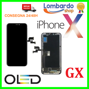 DISPLAY SCHERMO PER APPLE IPHONE X HARD OLED TOUCH SCREEN LCD ORIGINALE GX SOFT