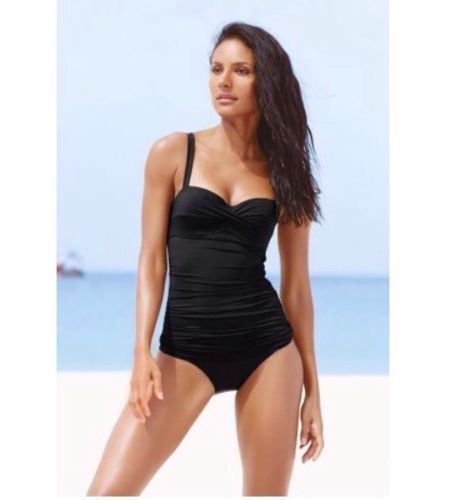 Next Black Shape Enhancer Tank Swim Suit Swimming Costume 38d 38 D