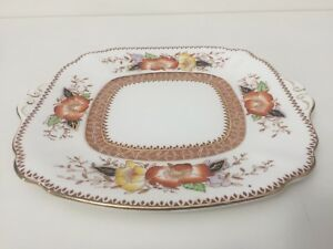 Vintage-Bell-China-English-Bone-China-Square-Serving-Plate-Made-in-England