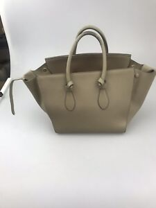 Image is loading Celine-Tie-bag-beige-Pre-owned e2cead9f5bdbc