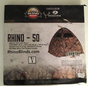 RHINO BLINDS - Rhino 50 1-Person Hunting Blind - MOSSY OAK BREAKUP CAMO - NEW!!!