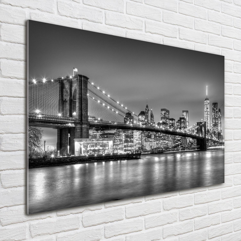 Wandbild aus Plexiglas® Druck auf Acryl 100x70 Brooklyn-Brücke