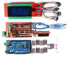 Ramps 14 Setkit For Reprap 3d Printer Mega 2560 5x Drv8825 2004 Lcd Arduino
