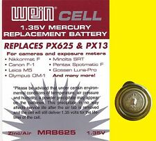 Battery Original WeinCell MRB 625 - 1,35 V zinc/air - replaces PX 625 PX13 MR9