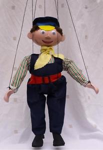 Augsburger Puppenkiste Lukas Le Conducteur De Locomotive Marionette