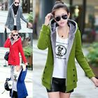 fashion Women Warm Winter Fleece Hooded Parka Coat Overcoat Long Jacket Outwear