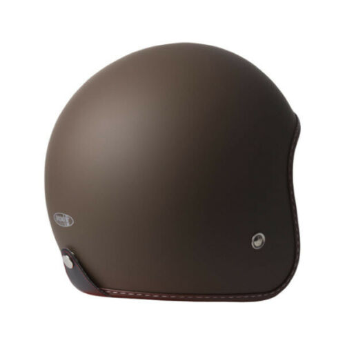 M Medium RXT Low Profile Open Face Motorbike Helmet Matt Brown Classic Goggles